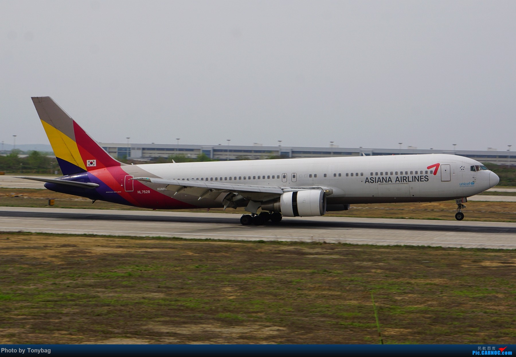 Re:[原创]【NKG】韩亚航空 Boeing 767-300 HL7528 BOEING 767-300 HL7528 中国南京禄口国际机场