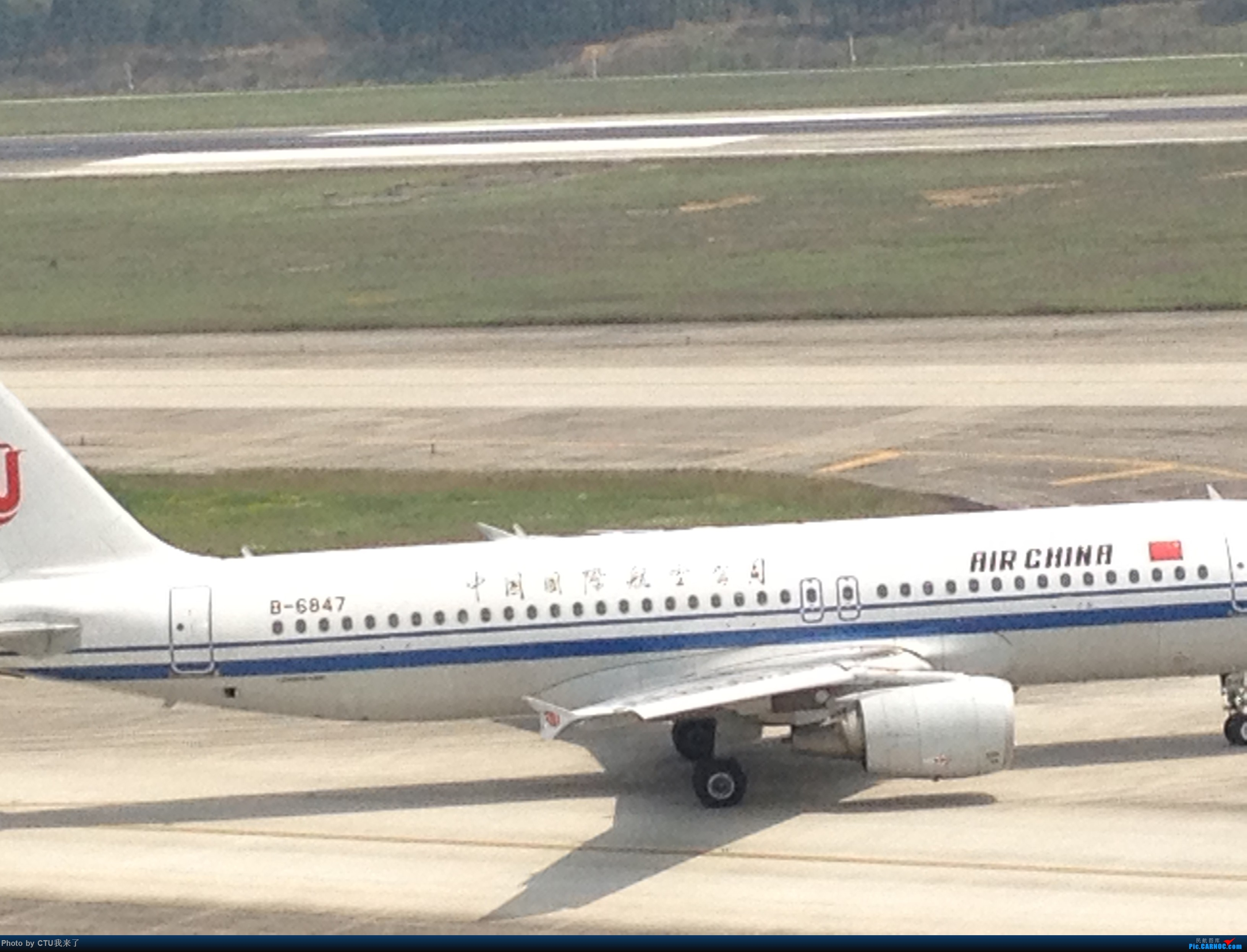 Re:[原创]水果手机拍机:CTU02R跑道杂货 AIRBUS A320-200 B-6847 中国成都双流国际机场