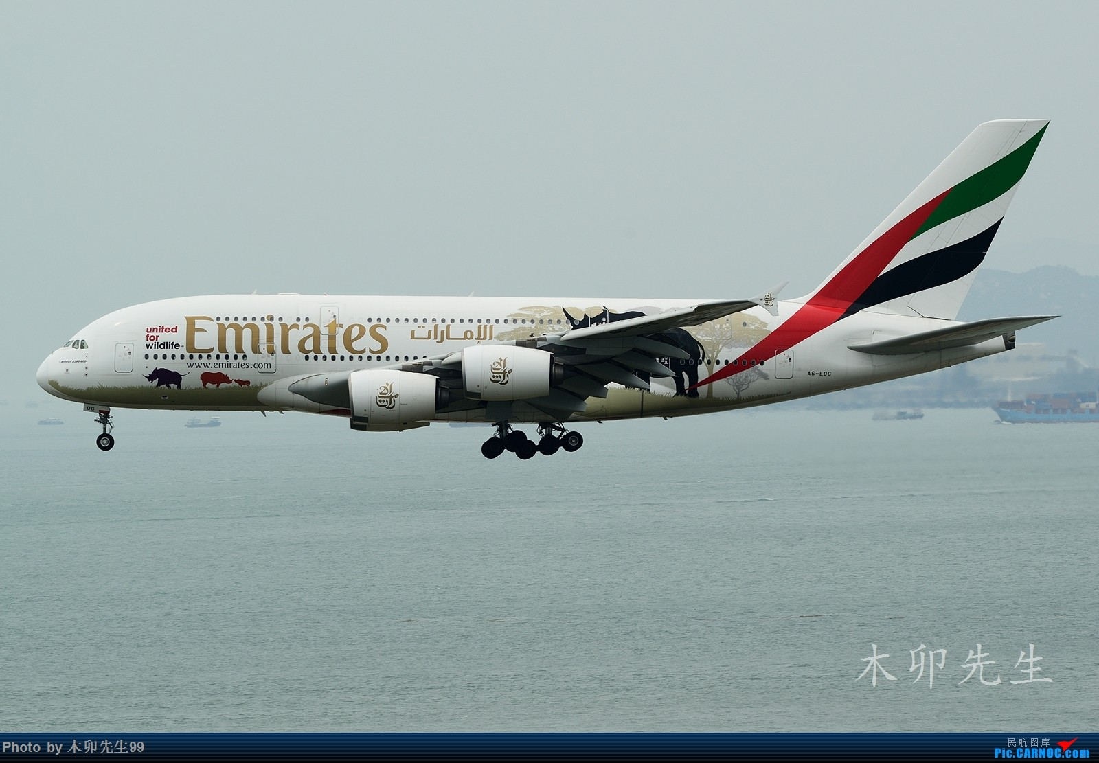 Re:[原创]【木卯先生99】—【世界最大A380彩绘机之一犀牛——阿聯酋航空】—2016—006 AIRBUS A380 A6-EDG 香港赤鱲角国际机场