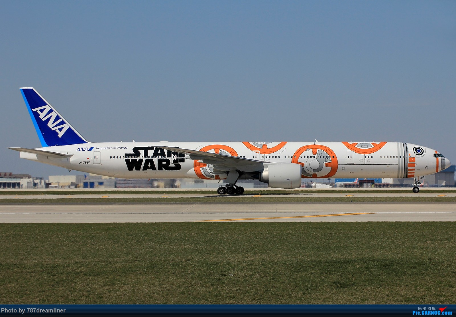 re:【ord】ana最新一架星战彩绘——star wars bb-2 boeing 777-300er