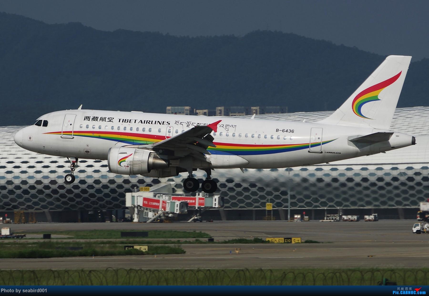 [原创]飞机组图。 AIRBUS A319-100 B-6436 中国深圳宝安国际机场