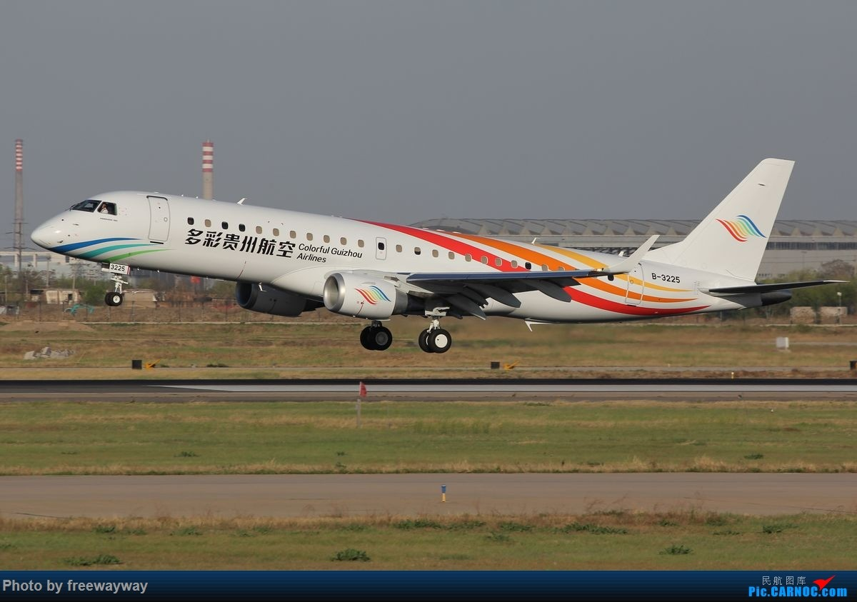 [原创]【TSN飞友会】多彩贵州新飞机 B-3225 EMBRAER E-190 B-3225 中国天津滨海国际机场