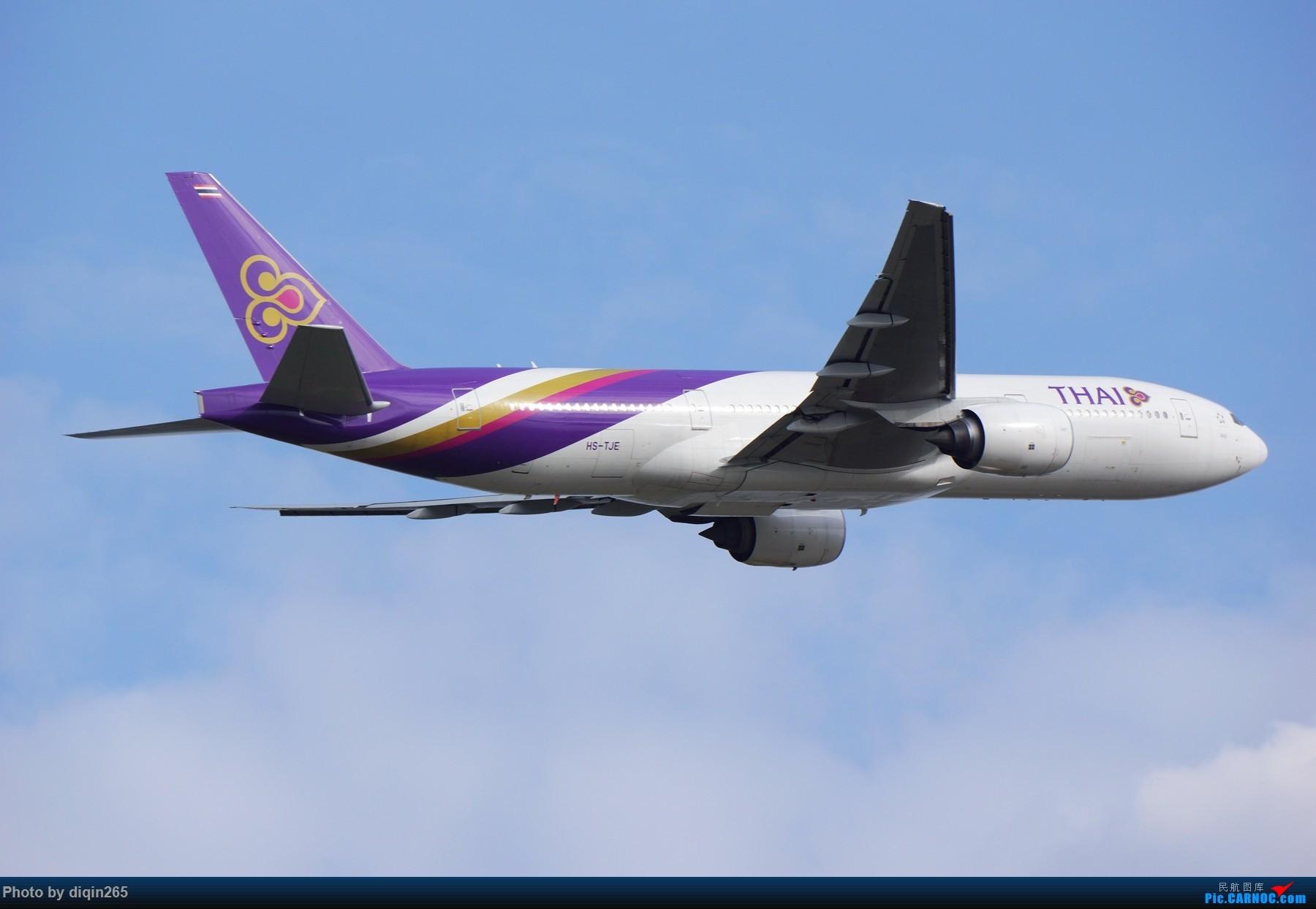 Re:[原创]CTU四月的一个周六 BOEING 777-200 HS-TJE 中国成都双流国际机场