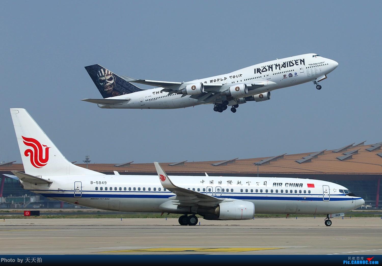 [原创]再见了铁娘子们!激情表演,漂亮的飞机。期待下次我们北京再见! BOEING 747-400 TF-AAK 中国北京首都国际机场