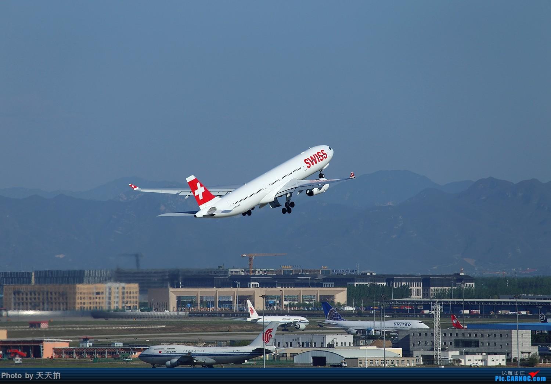 Re:[原创]北京首都国际机场东路苏活楼顶的角度好棒拉起感觉非常的漂亮 AIRBUS A330-300 HB-JHF 中国北京首都国际机场