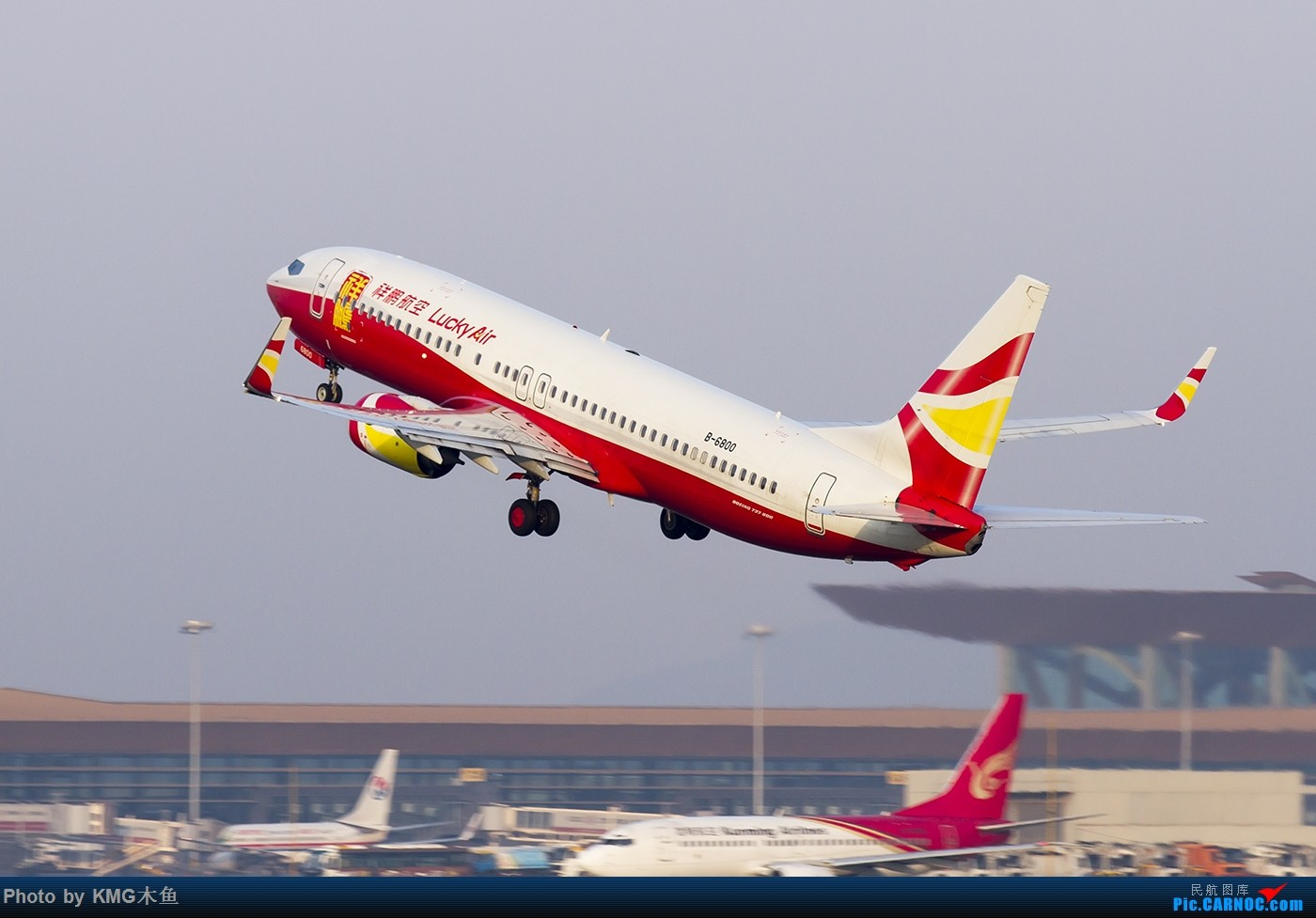Re:[原创]【昆明飞友会—KMG木鱼】2016年4月的最后一天,去的很早,天气却不太好 BOEING 737-800 B-6800 中国昆明长水国际机场