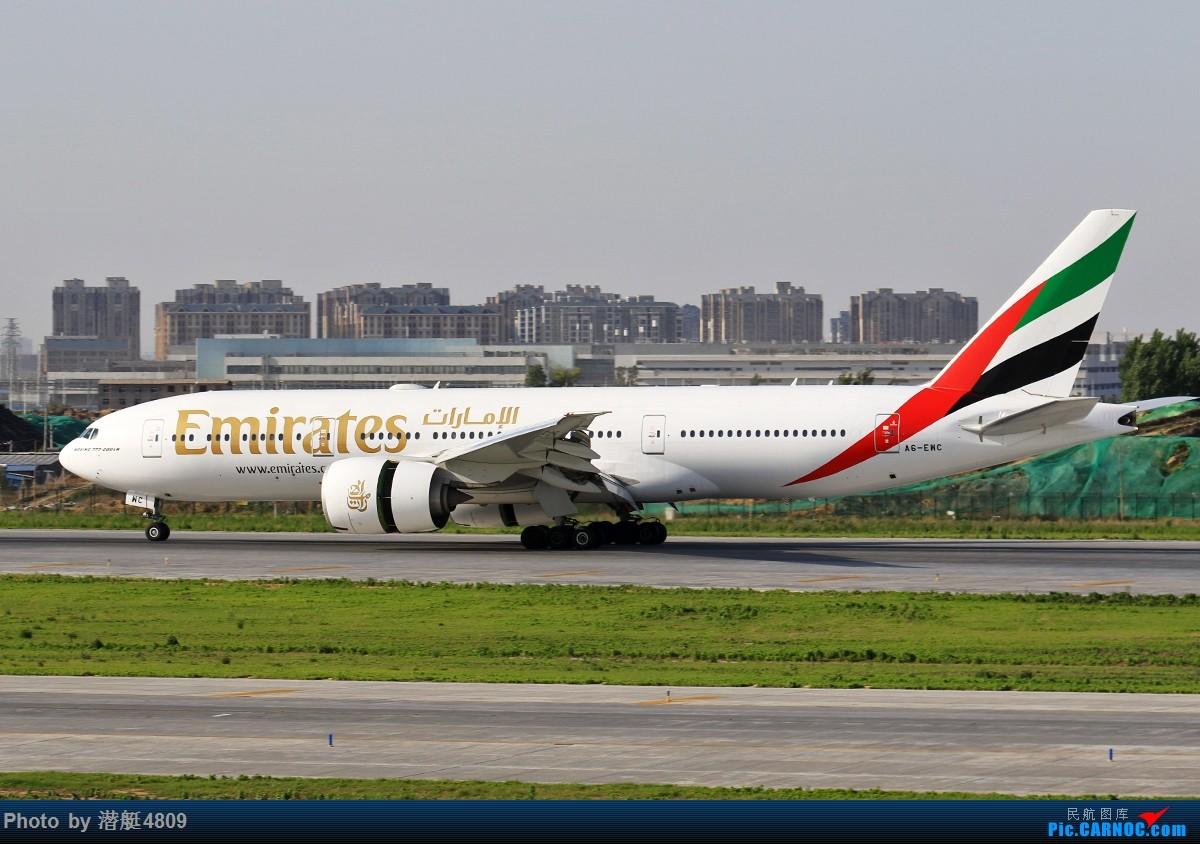 [原创][郑州飞友会]阿联酋航空首航郑州 波音777-200LR A6-ENC 新郑国际机场