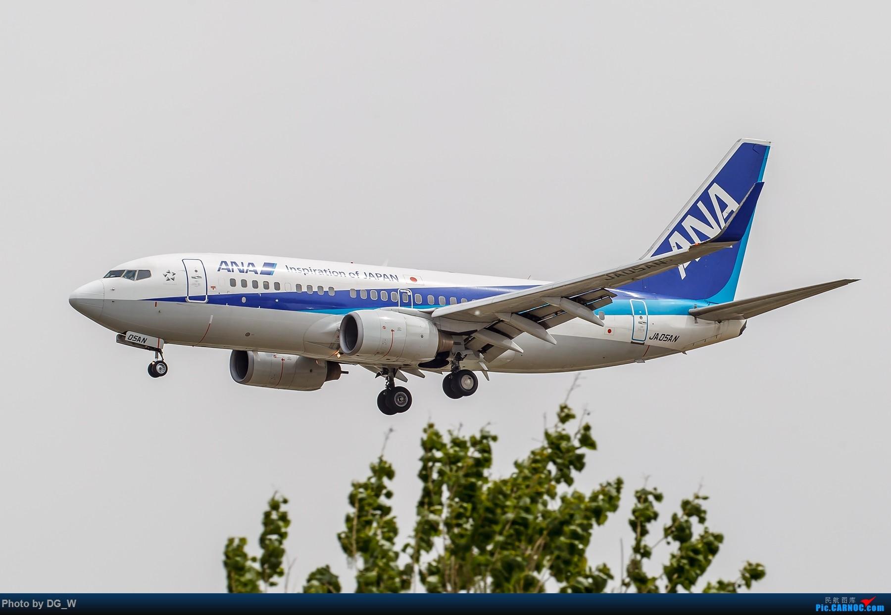[原创]【南宁飞友】第一次在PEK01跑道拍机 BOEING 737-700 JA05AN 中国北京首都国际机场