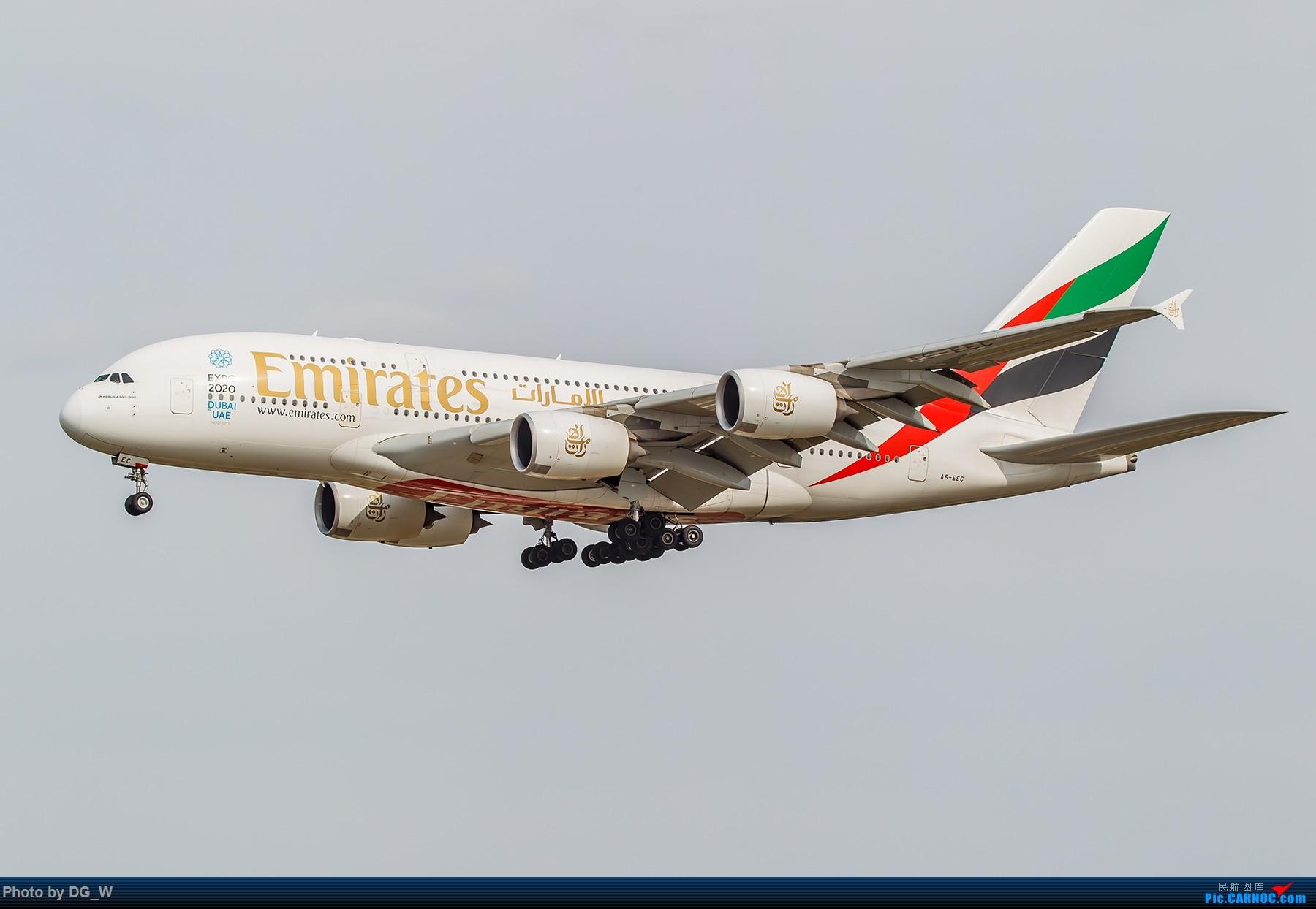Re:[原创]【南宁飞友】第一次在PEK01跑道拍机 AIRBUS A380-800 A6-EEC 中国北京首都国际机场