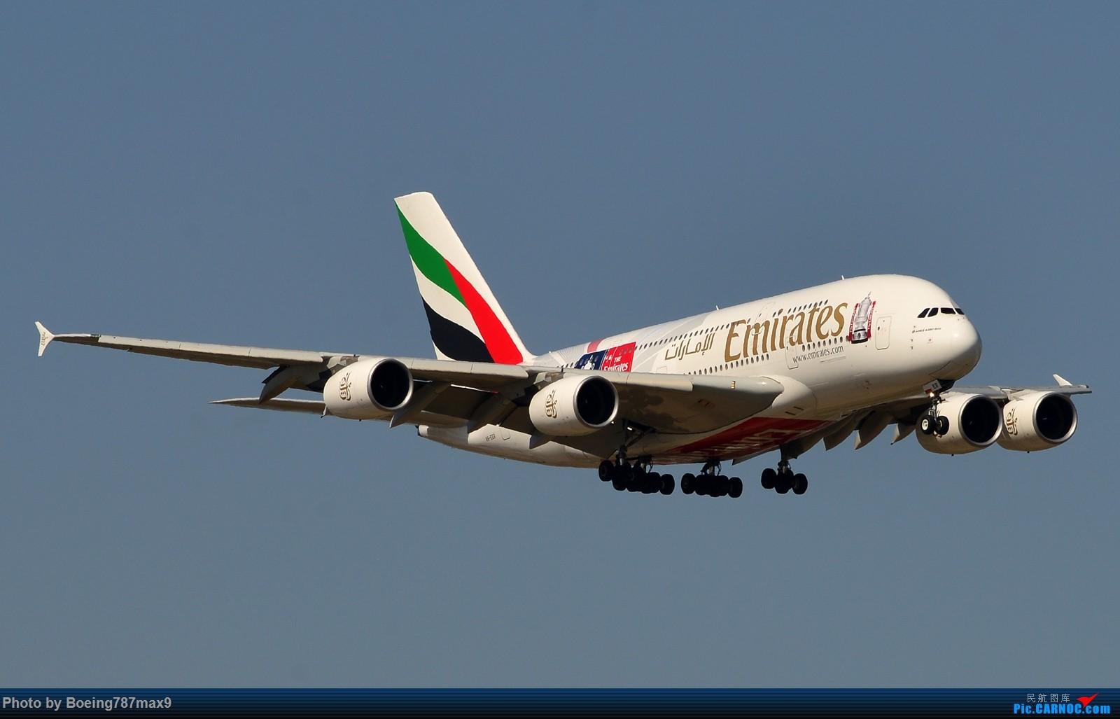 [原创]【PEK】这家货第一次来北京,却正赶上南风。阿联酋380-800总足杯彩绘机『1600*高清大图』 AIRBUS A380-800 A6-EER 中国北京首都国际机场