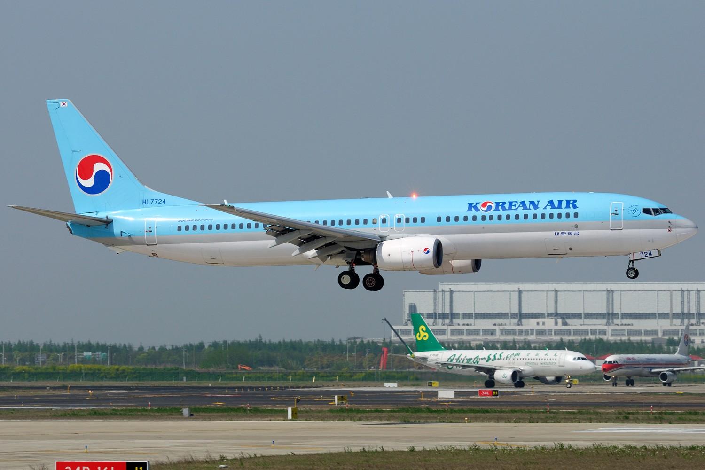 Re:[原创]【PVG】炒点冷饭,PVG 34R一组 BOEING 737-900 HL7724 中国上海浦东国际机场