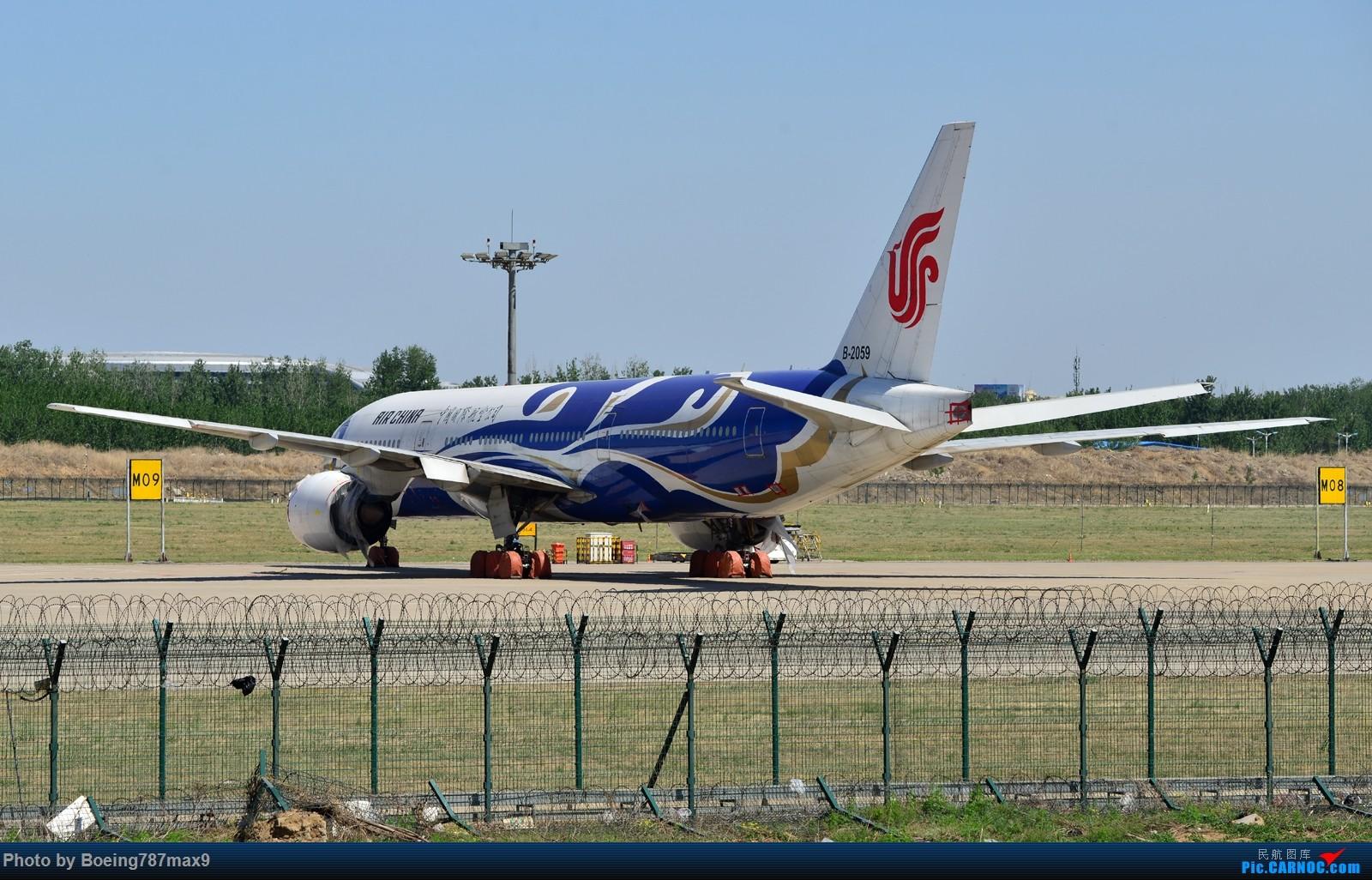 """[原创]【PEK】发张图纪念一下已经退役的""""水深"""",当然不能少了它的兄弟""""火热""""『1600*高清大图』 BOEING 777-200 B-2059 中国北京首都国际机场"""