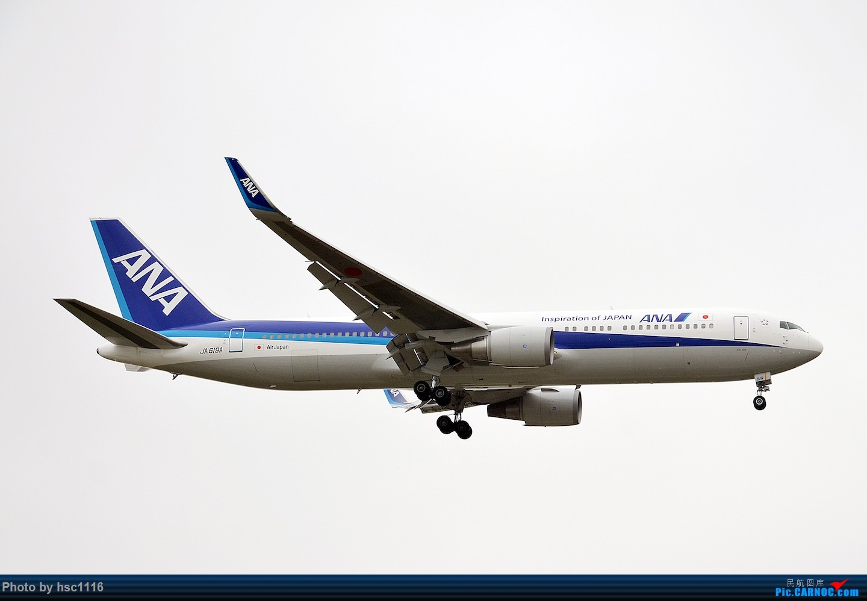Re:[原创]烂天的PVG,北美进港高峰,UA/CA大星星 BOEING 767-300ER JA619A 中国上海浦东国际机场