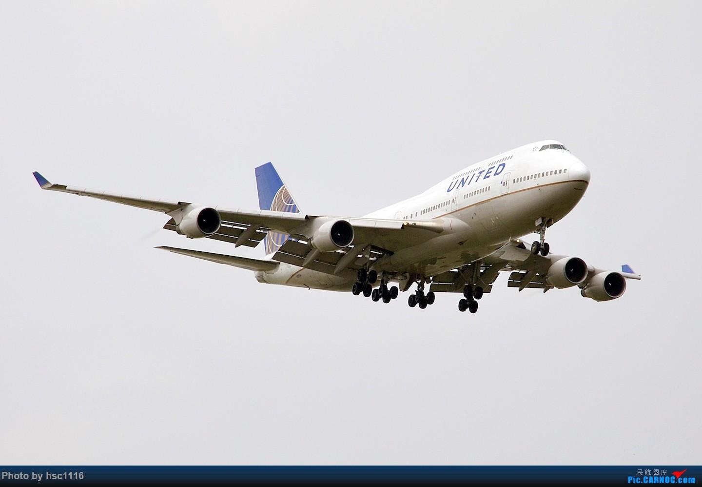 Re:[原创]烂天的PVG,北美进港高峰,UA/CA大星星 BOEING 747-400 N197UA 中国上海浦东国际机场