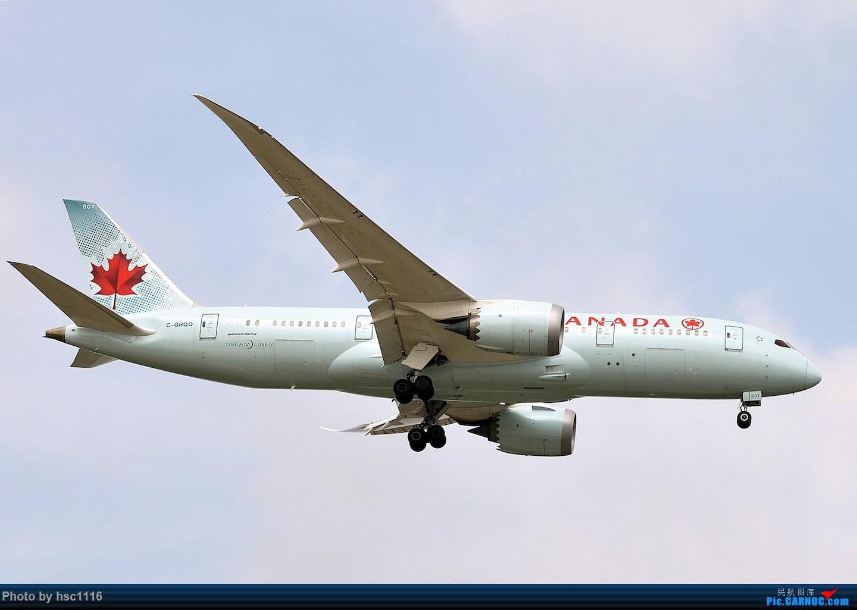 Re:[原创]烂天的PVG,北美进港高峰,UA/CA大星星 BOEING 787-8 C-GHQQ 中国上海浦东国际机场