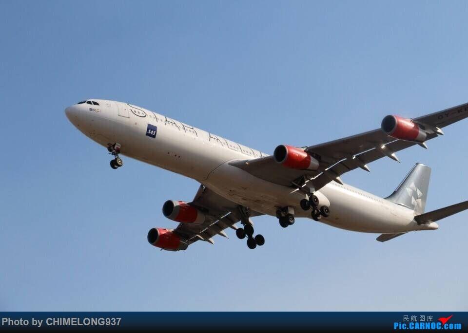 [原创]【一图党】【广州飞友会】SAS星空联盟A340 AIRBUS A340-300 OY-KBM 中国香港国际机场