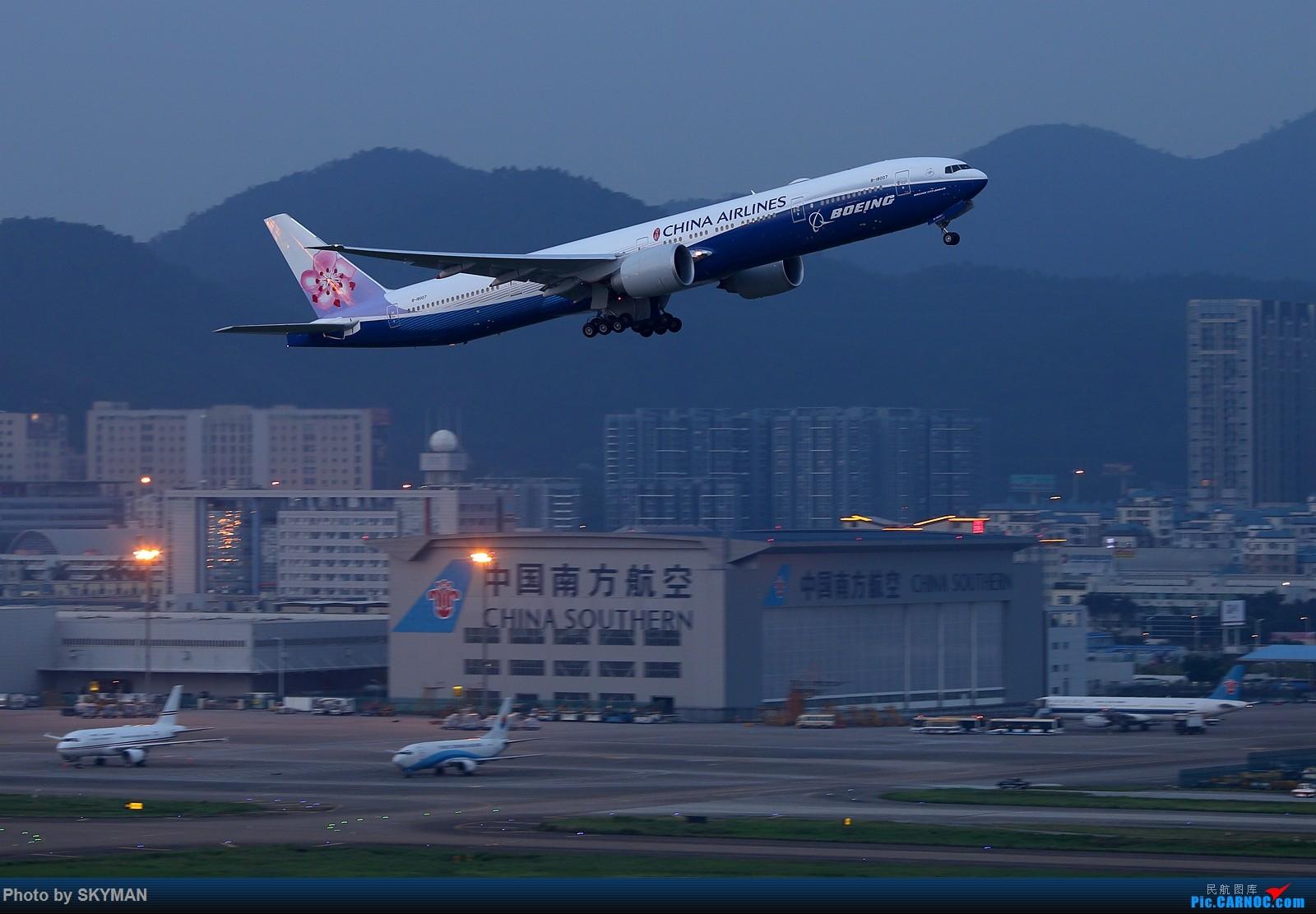 Re:[原创]BLDDQ     华航蓝鲸77W首飞深圳!!! BOEING 777-300ER B-18007 中国深圳宝安国际机场
