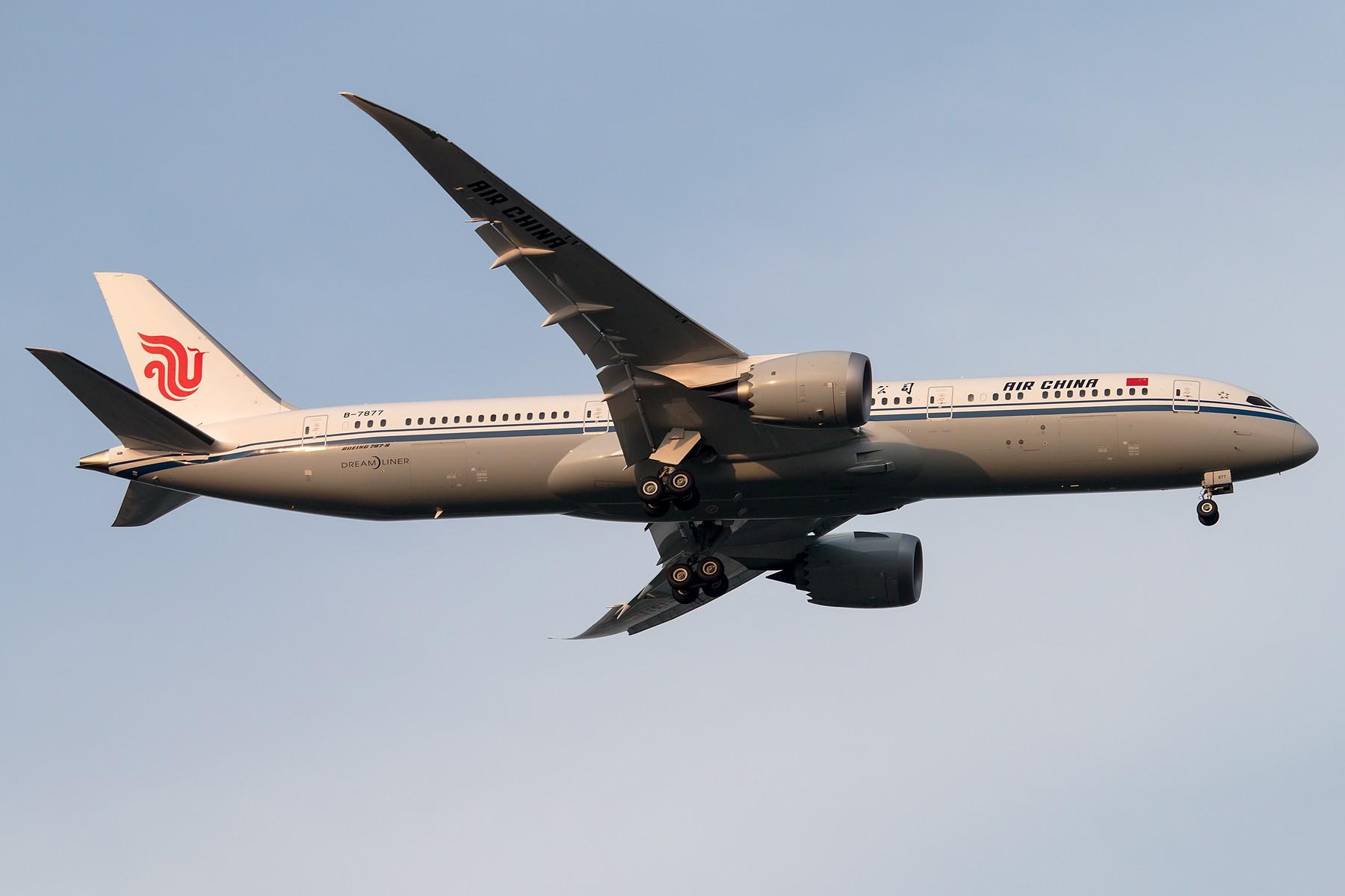 [原创][一图党] 中国国际航空 B-7877 B787-9 Dreamliner 解决个有无 渣图一张 1800*1200 BOEING 787-9 B-7877 中国北京首都国际机场