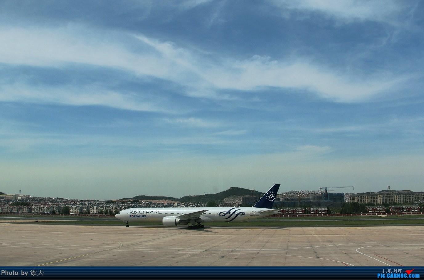 [原创]DLC 大韩邮戳 BOEING 777-300ER HL7783 中国大连国际机场