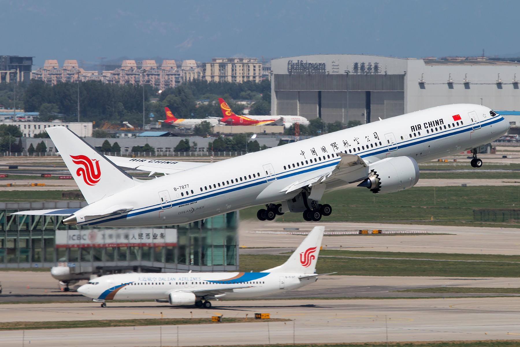 CA1519&CA1520 1800*1200 BOEING 787-9 B-7877 中国北京首都国际机场