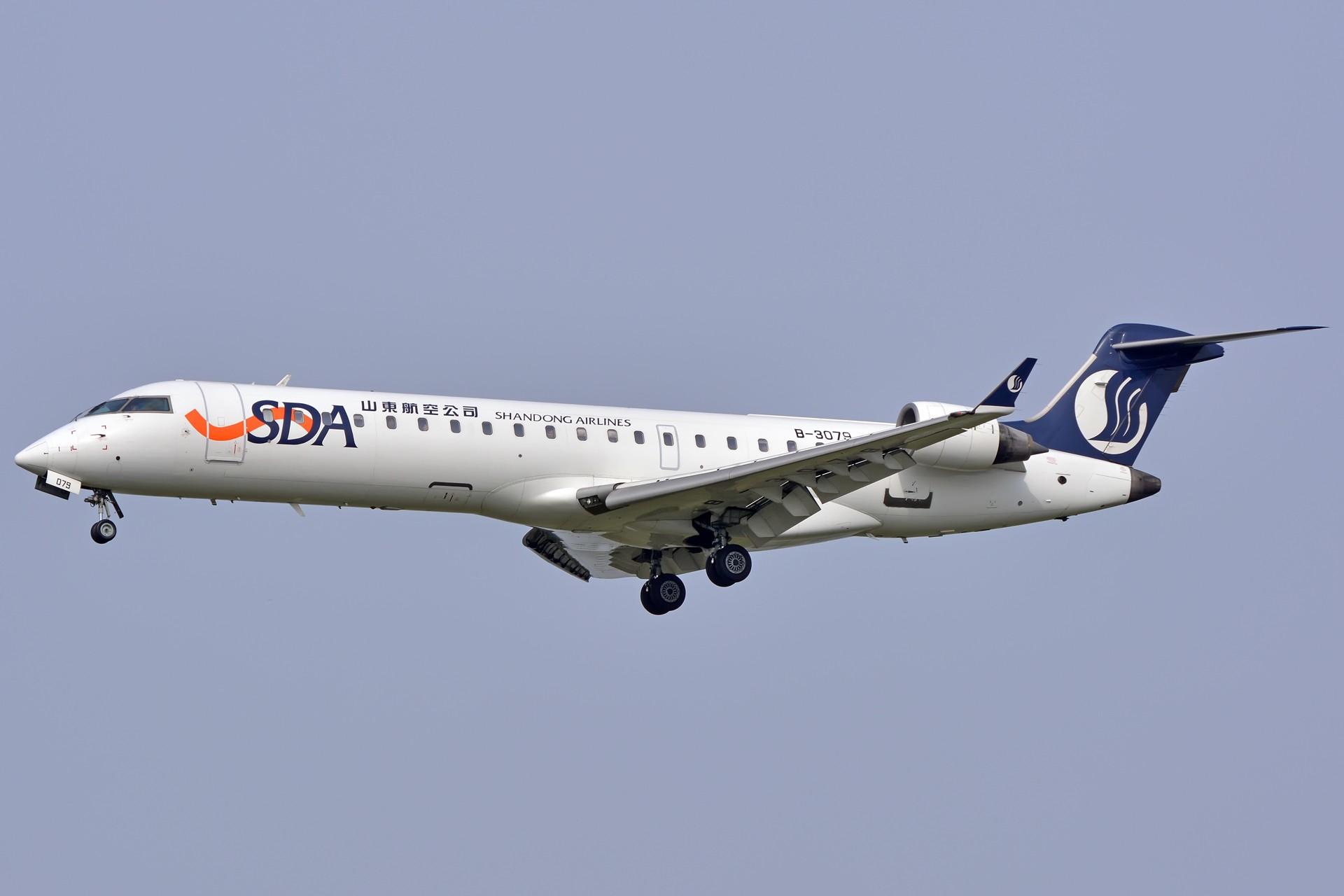 [原��]【三�D�h】山�|航空B-3079 CRJ-700 BOMBARDIER CRJ-700 B-3079 中��合肥新����H�C��
