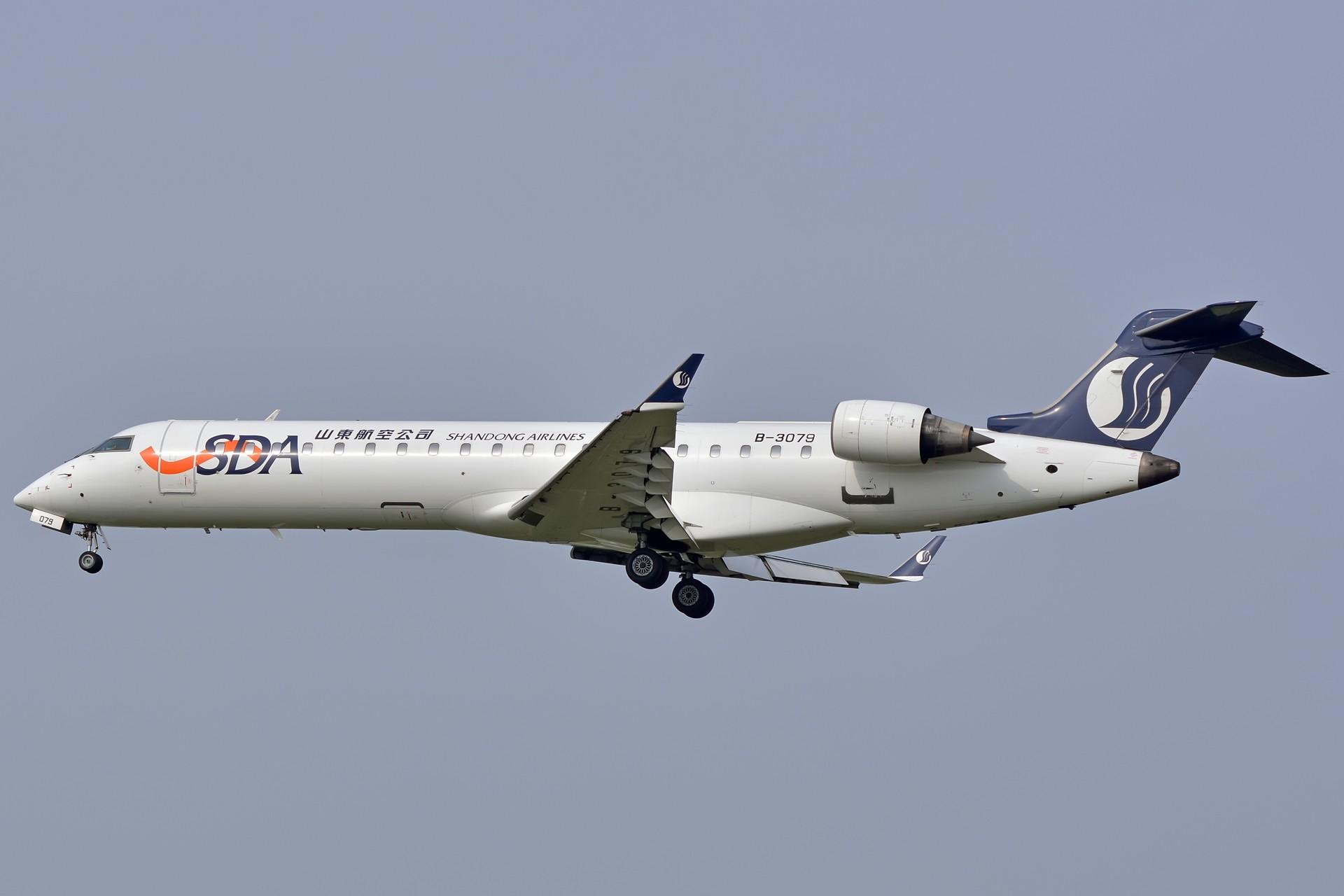 Re:[原��]【合肥�w友��・三�D�h】SHANDONG AIRLINES B-3079 CRJ-700[1920×1280] BOMBARDIER CRJ-700 B-3079 中��合肥新����H�C��