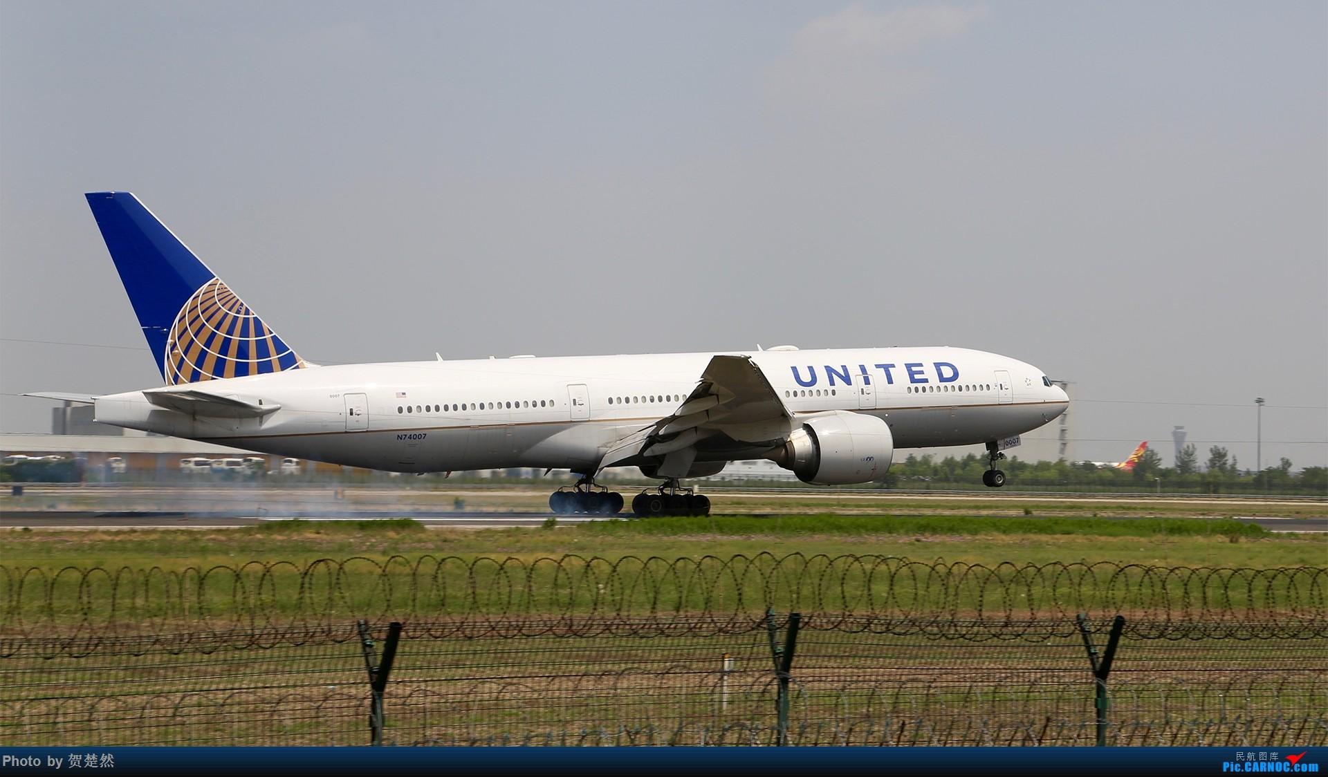 Re:[原创]高考同时高一党ZBAA拍机 BOEING 777-200 N74007 中国北京首都国际机场