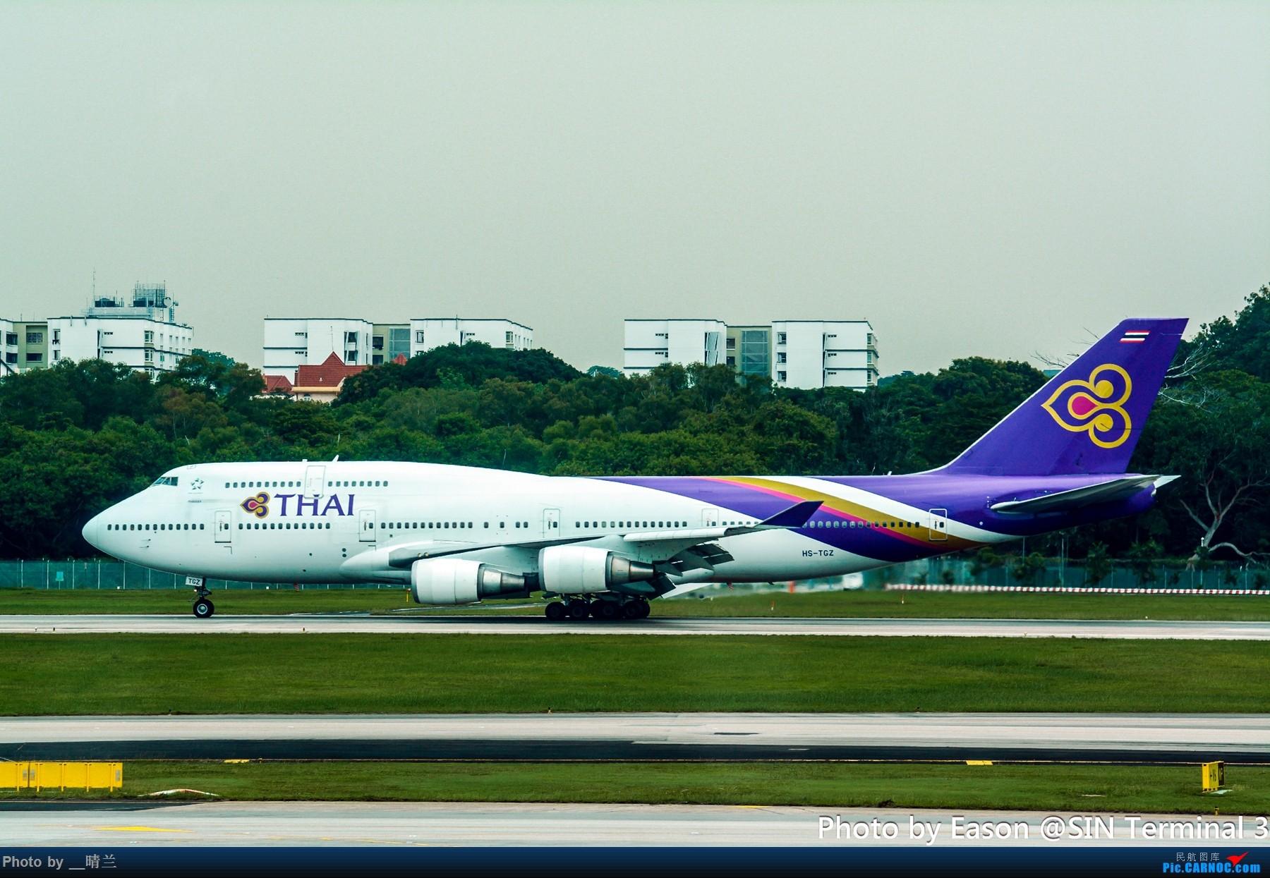 Re:[原创]PVG+SIN候机楼杂拍 BOEING 747-400 HS-TGZ 新加坡樟宜机场