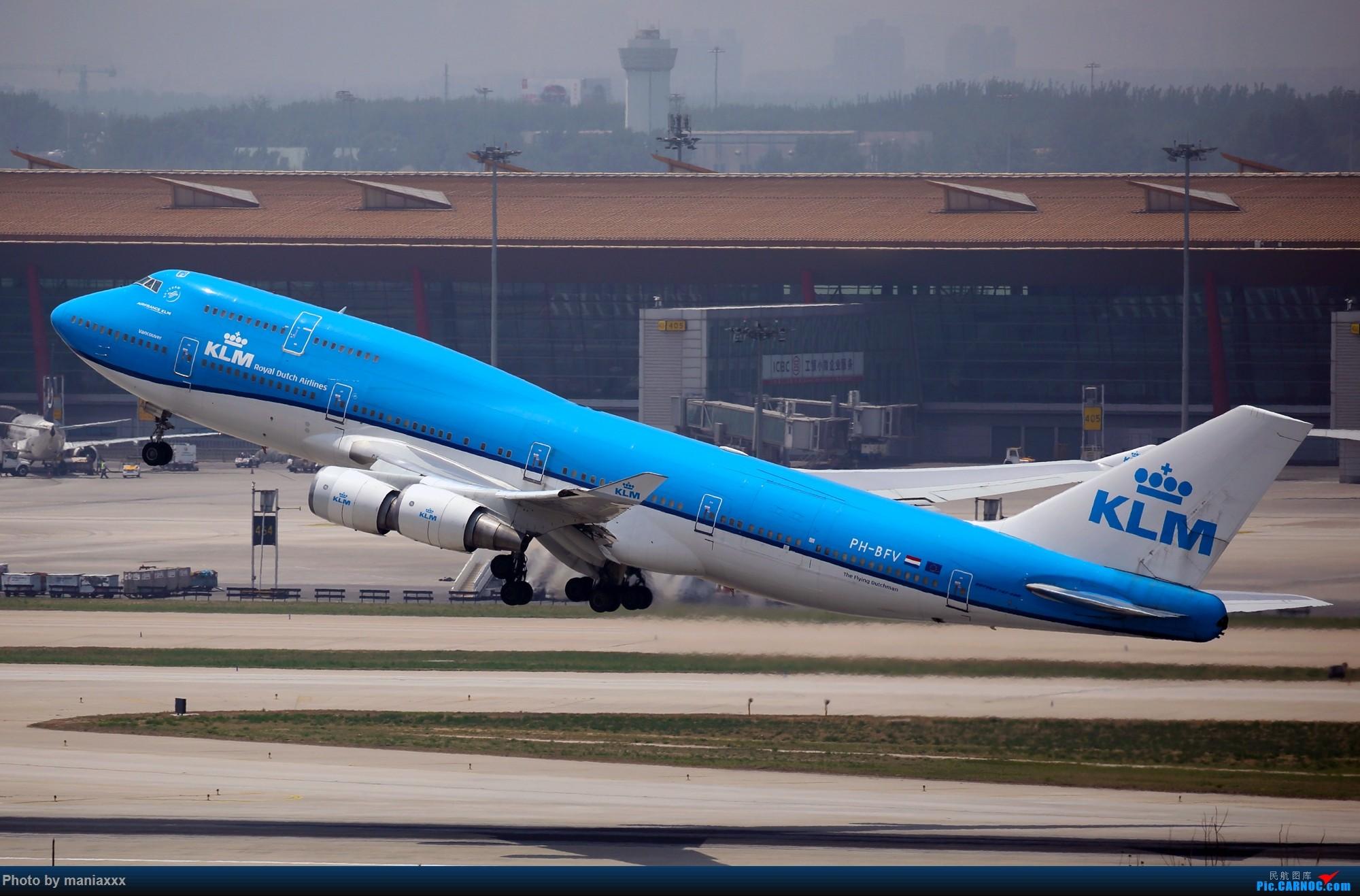 [原创]我是一图党~~~~~KLM新装为什么不能变化更大一些呢??? BOEING 747-400 PH-BFV 中国北京首都国际机场