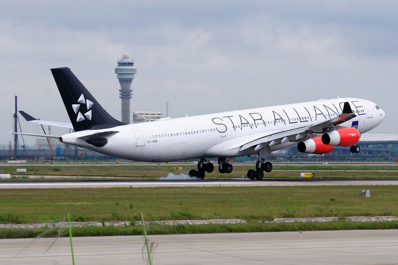 Re:[原创]【PVG】浦东难得的妖天,又见北欧大猩猩OY-KBM,A340-300 AIRBUS A340-300 OY-KBM 中国上海浦东国际机场