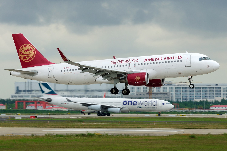 Re:[原创]【PVG】浦东难得的妖天,又见北欧大猩猩OY-KBM,A340-300 AIRBUS A320-200 B-1681 中国上海浦东国际机场