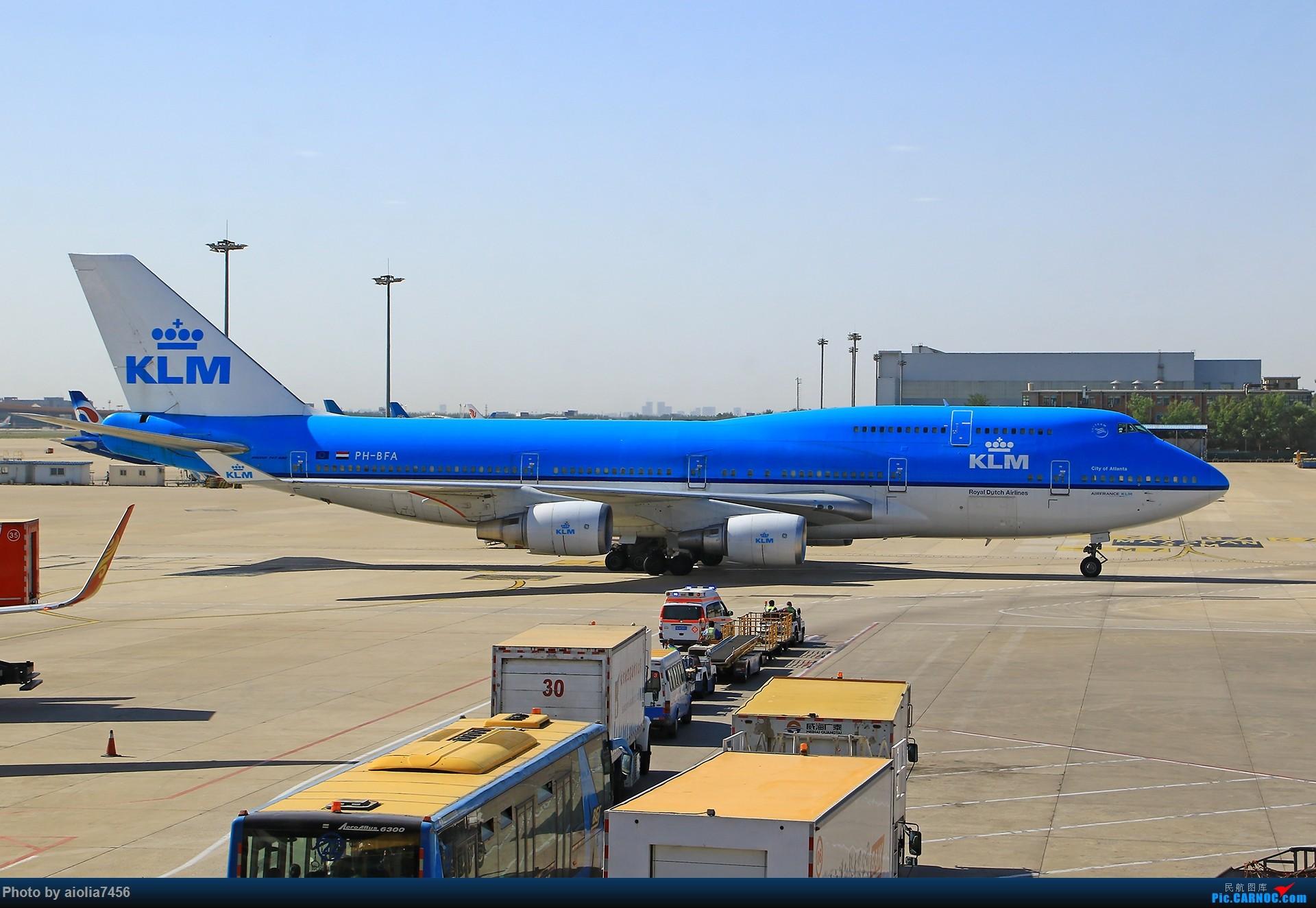 [原创]【合肥飞友会】西行归来第二弹--西行拍机 BOEING 747-400 PH-BFA 中国北京首都国际机场