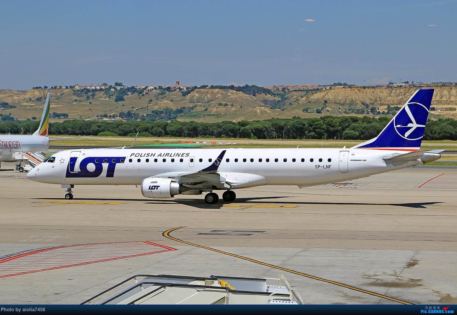 Re:[原创]【合肥飞友会】西行归来第二弹--西行拍机 EMBRAER E-195 SP-LNF 西班牙马德里机场
