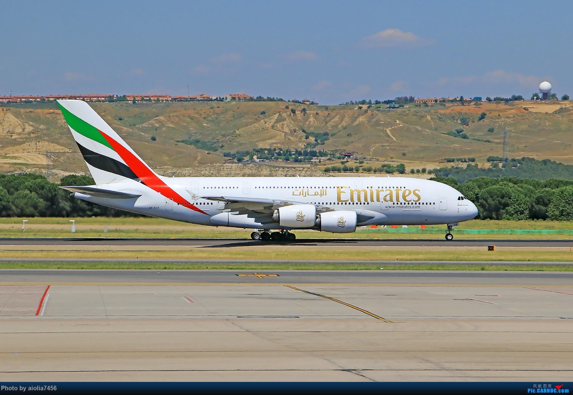 Re:[原创]【合肥飞友会】西行归来第二弹--西行拍机 AIRBUS A380-800 A6-EOA 西班牙马德里机场