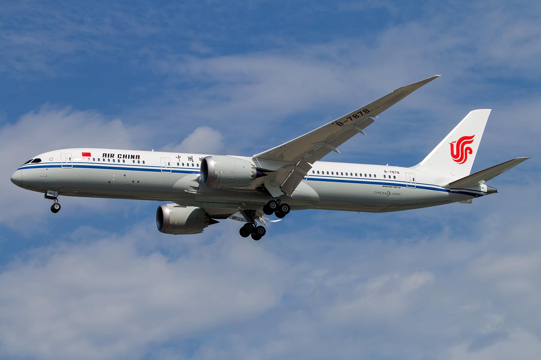 [原创][一图党] 中国国际航空第二架B787-9 Dreamliner B-7878 1800*1200 BOEING 787-9 B-7878 中国北京首都国际机场