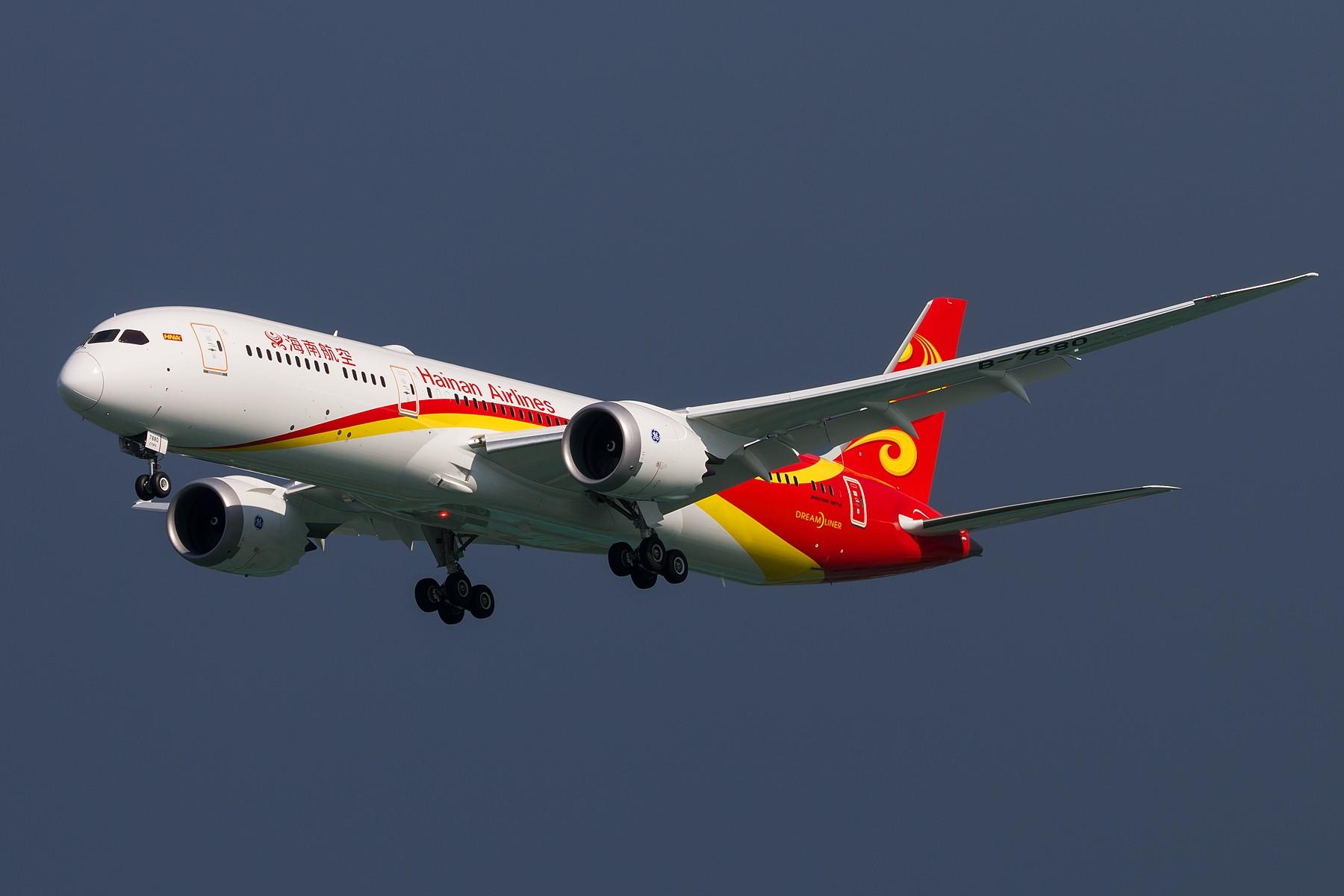 [原创]海南航空首架B787-9 Dreamliner B-7880 三连拍 1800*1200 BOEING 787-9 B-7880 中国北京首都国际机场