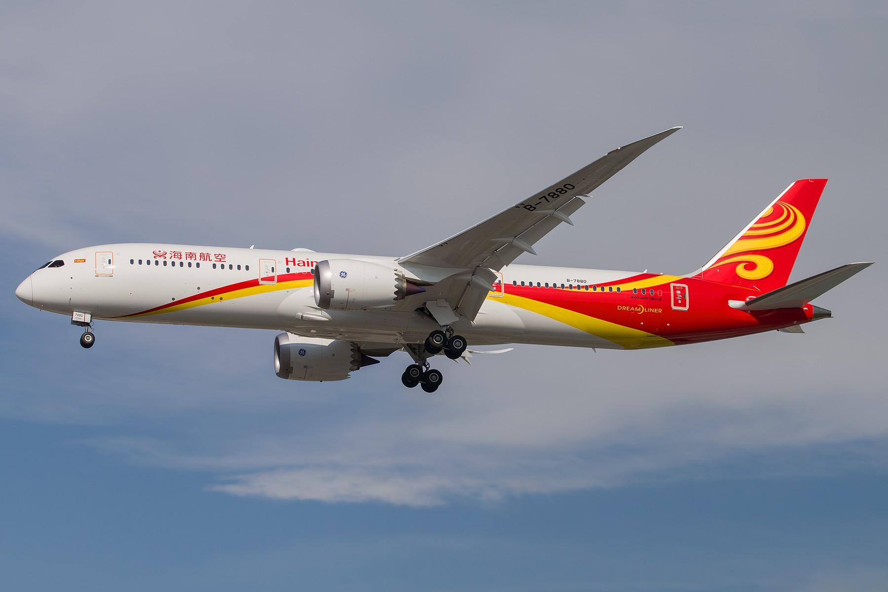 Re:[原创]海南航空首架B787-9 Dreamliner B-7880 三连拍 1800*1200 BOEING 787-9 B-7880 中国北京首都国际机场