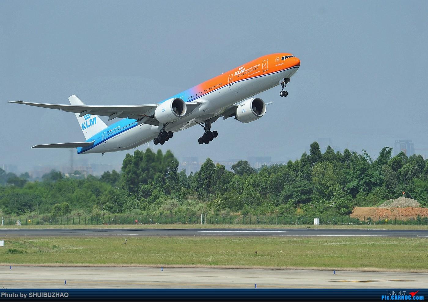 Re:荷航新涂装首飞成都 777W PH-BVA 成都双流机场