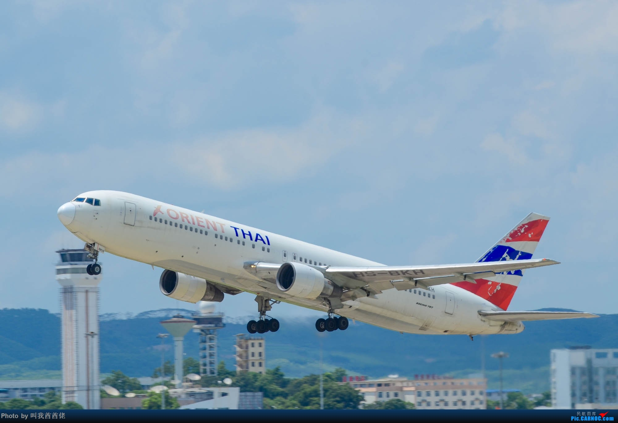[原创]南宁拍机记(蓝天白云) BOEING 767 HS-BKH 中国南宁吴圩国际机场