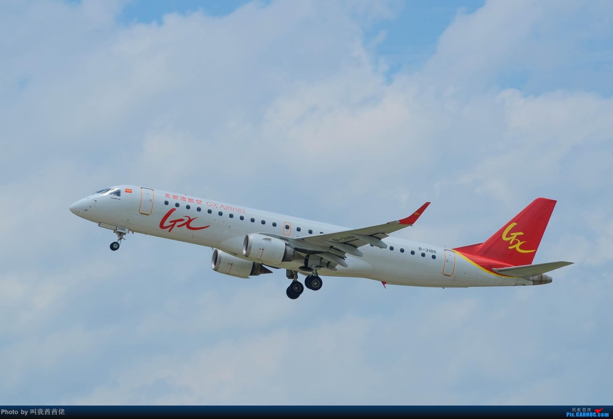 Re:[原创]南宁拍机记(蓝天白云) EMBRAER E-190 B-3186 中国南宁吴圩国际机场