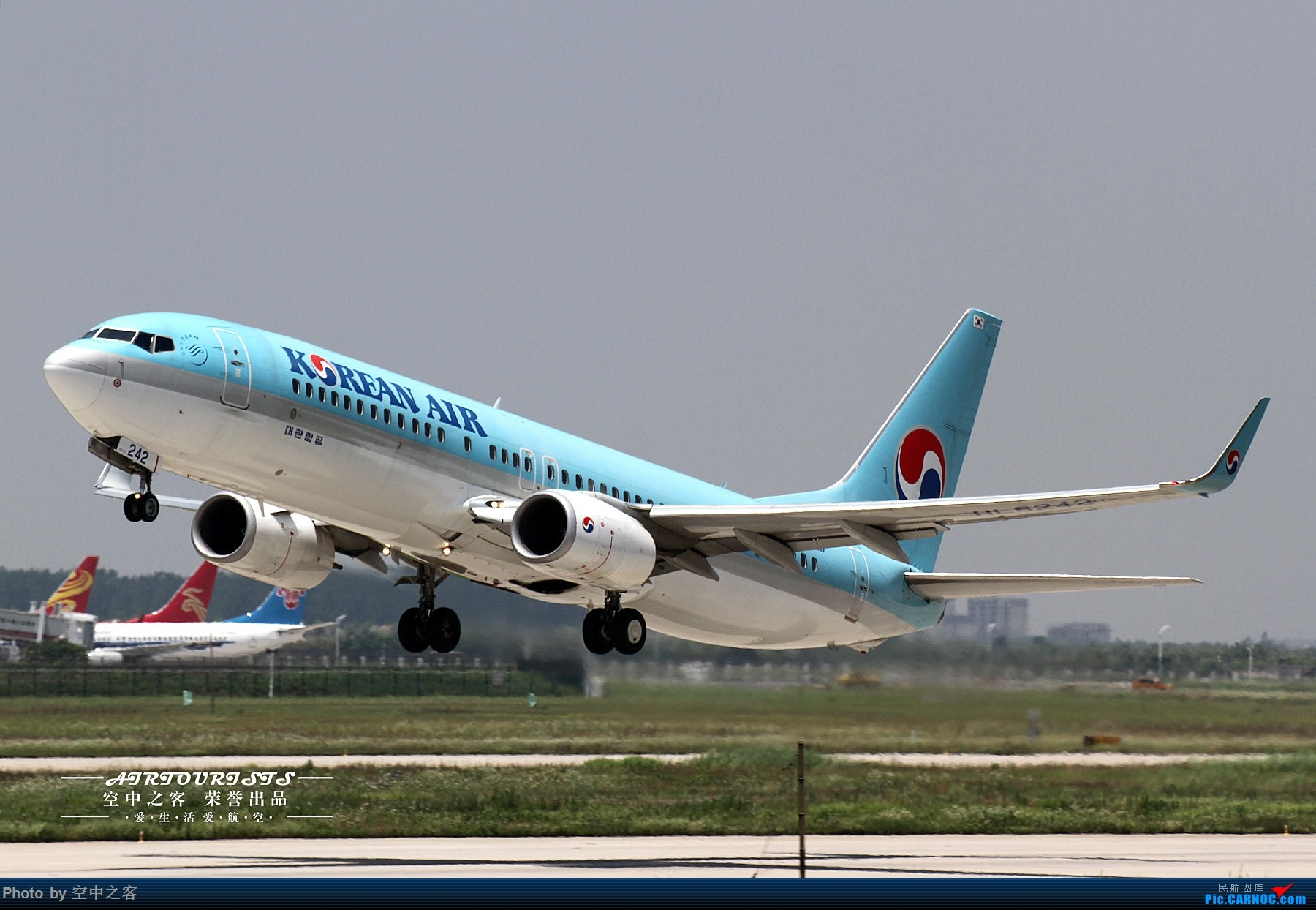 Re:[原创][合肥飞友会·霸都打机队 空中之客出品]少有的周末大晴天 来一场说走就走的拍机(1) BOEING 737-800 HL-8242 合肥新桥国际机场