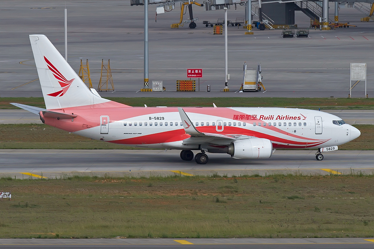 Re:[原创]【昆明飞友会-KMG木鱼6月拍机】图片有点多,耐心看,感谢各位 BOEING 737-700 B-5829 中国昆明长水国际机场