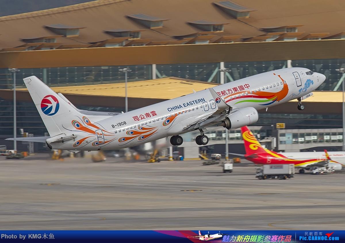 Re:[原创]【昆明飞友会-KMG木鱼6月拍机】图片有点多,耐心看,感谢各位 BOEING 737-800 B-1908 中国昆明长水国际机场