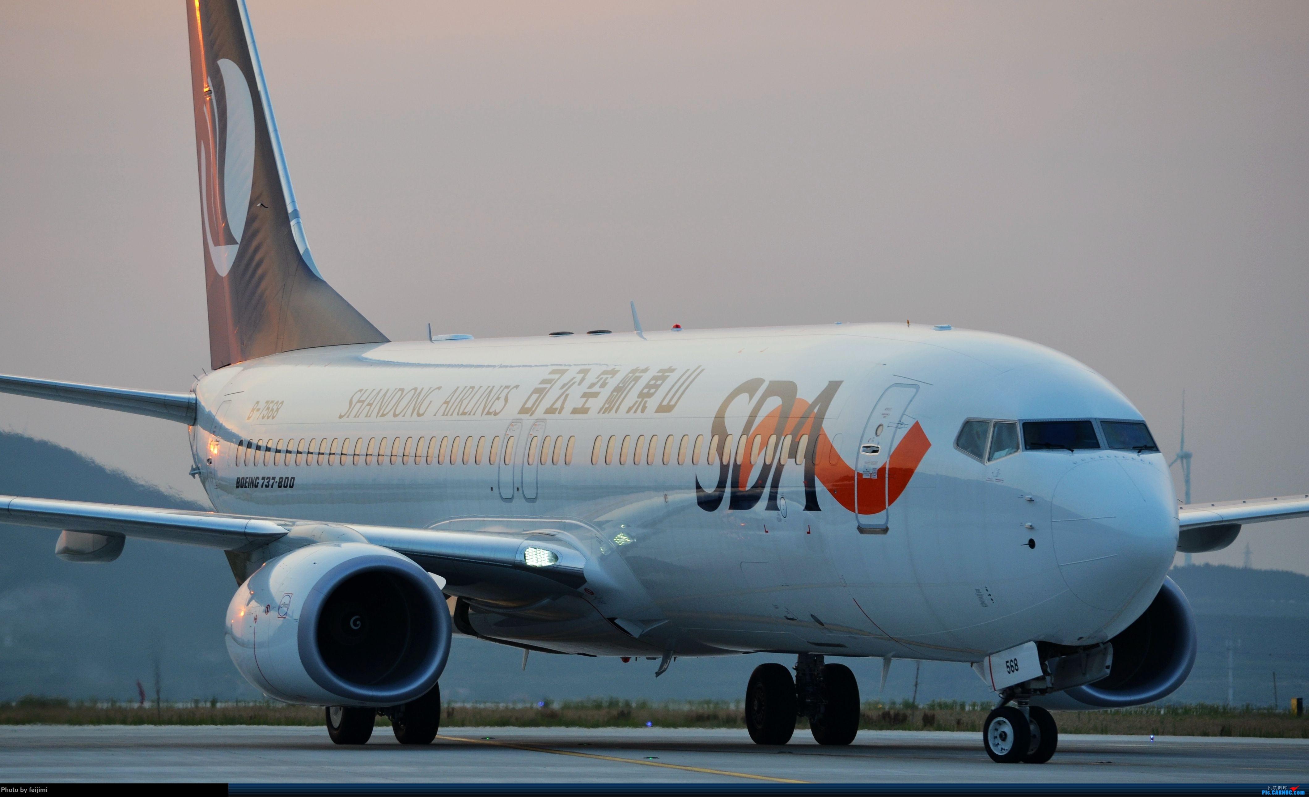 [原创]<子安&拍机>在小地方,拍机,要有心,一组内场图奉上 BOEING 737-800 B-7568 中国烟台蓬莱国际机场