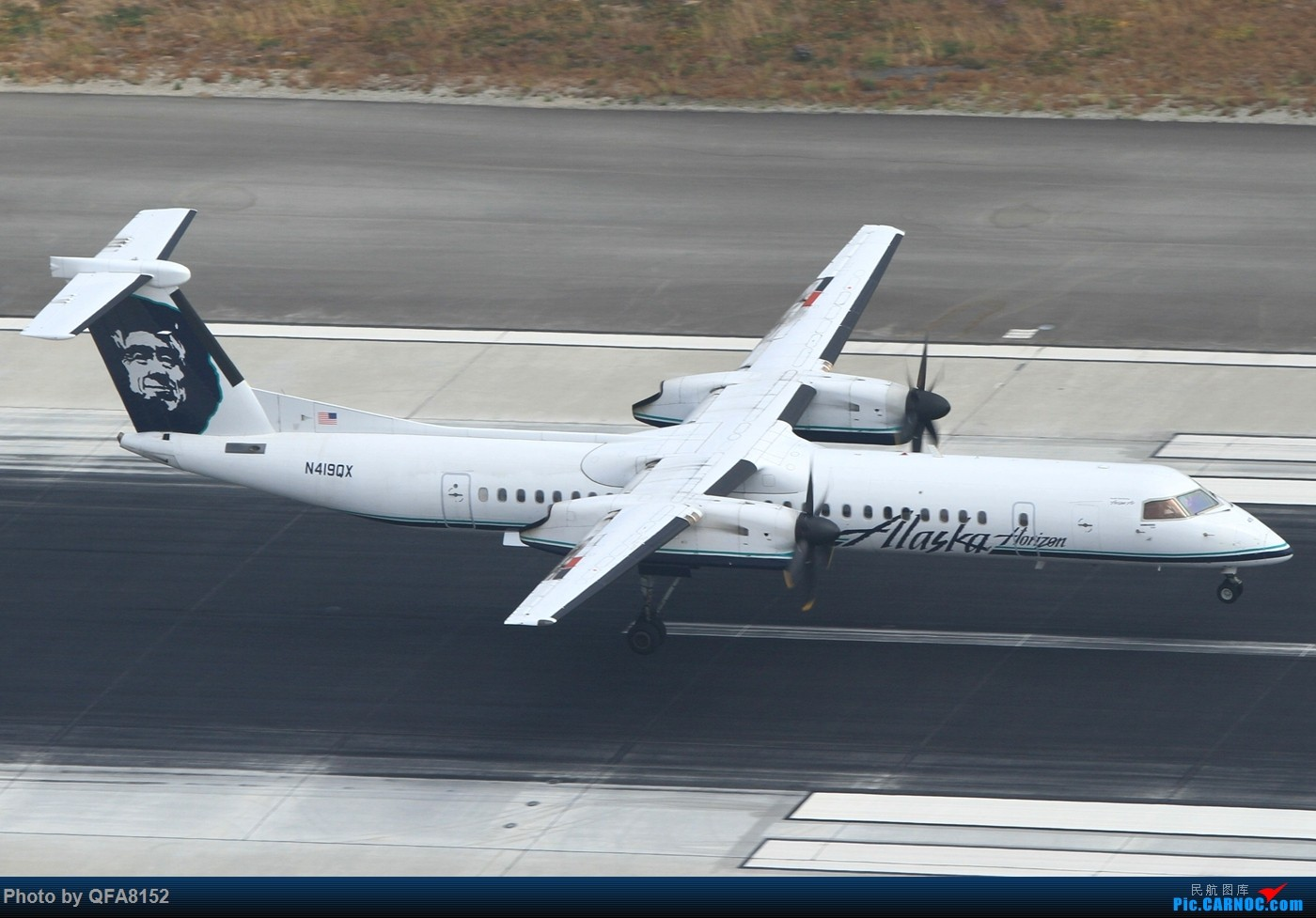 Re:[原创]也算是实现一个愿望了 DE HAVILLAN CANADA DHC-8-400  洛杉矶国际机场