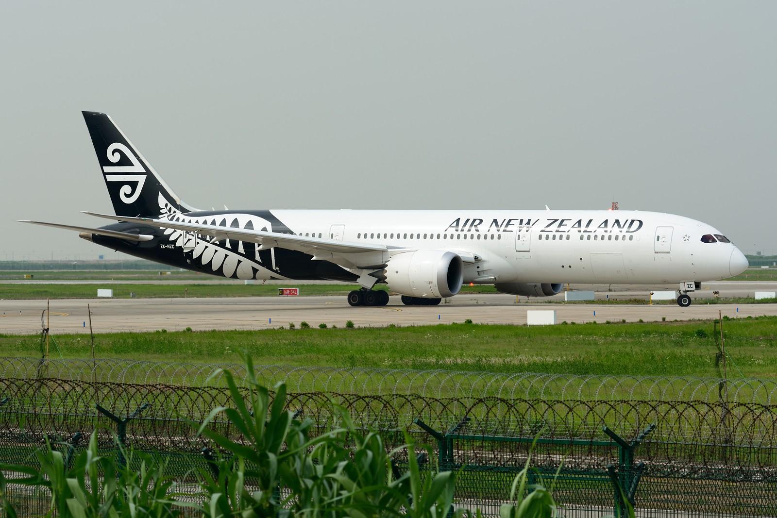 [原创]【PVG】梅雨天小拍,重型机一组 BOEING 787-9 ZK-NZC 中国上海浦东国际机场