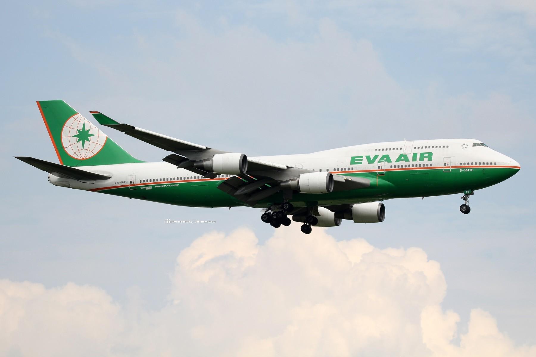 [原创]【TPE】台北桃園降落一組!(找廣州或上海飛友帶路~) BOEING 747-400 B-16412 中国台北桃园国际机场