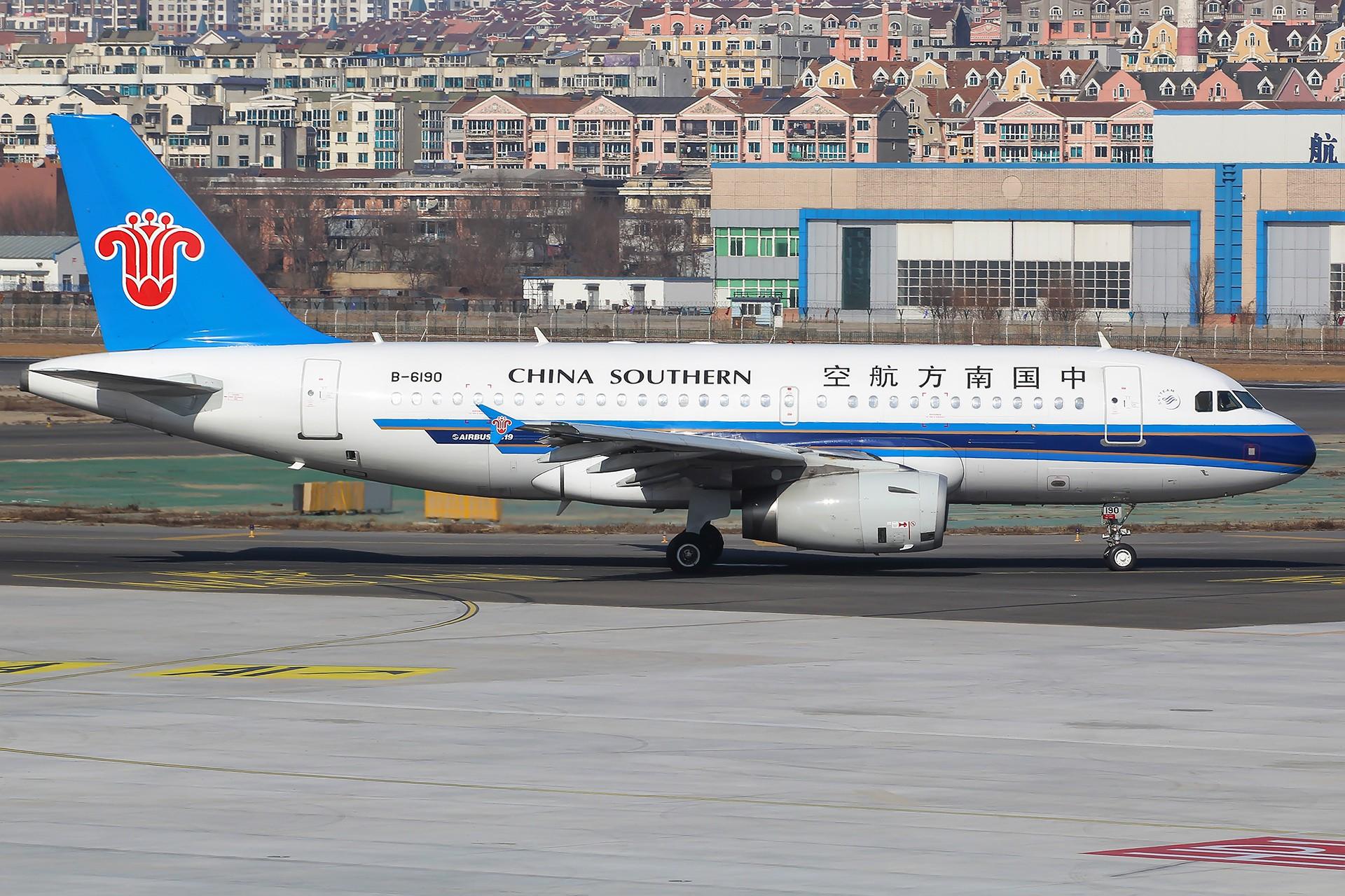 Re:[原创][原创][DLC]。。。绚丽甘肃 + 大美青海。。。 AIRBUS A319-100 B-6190 中国大连国际机场