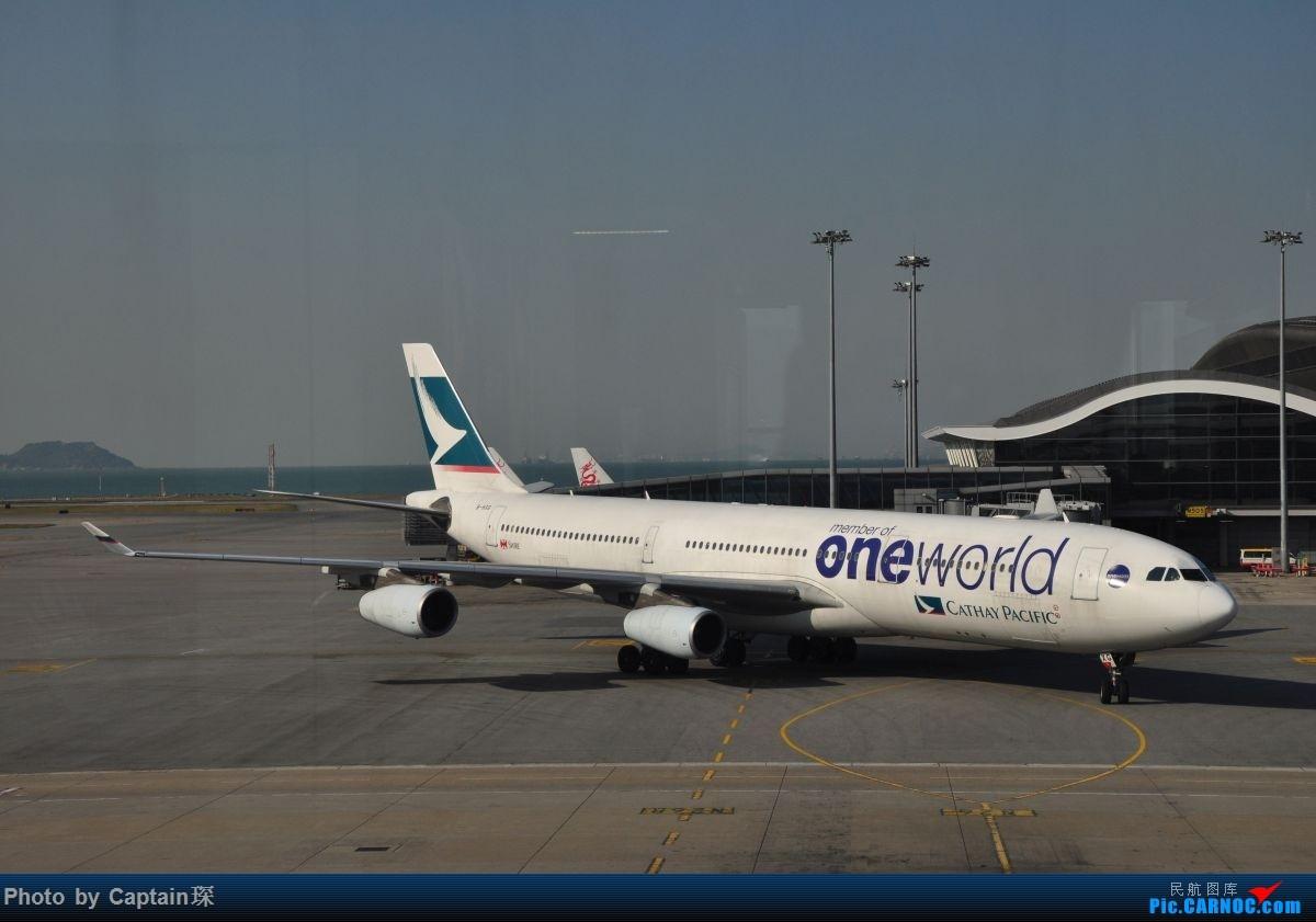 Re:[原创]重度拖延症之香港转机贴 AIRBUS A340-300 B-HXG 中国香港国际机场
