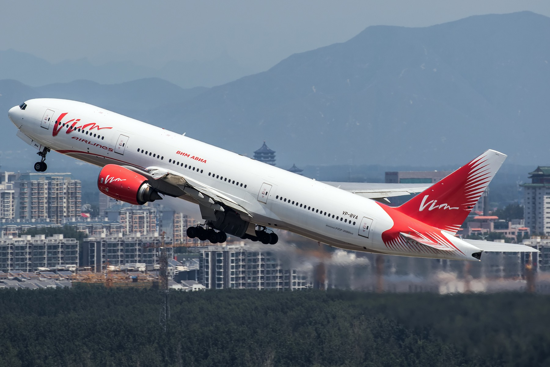 **一图党**VIM航空,旅游包机,白天逮到夜猫子~ BOEING 777-200ER VP-BVA 中国北京首都国际机场